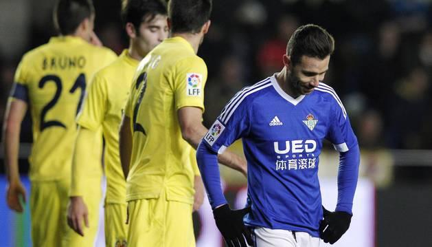 Rubén Castro se lamenta contra el Villarreal.
