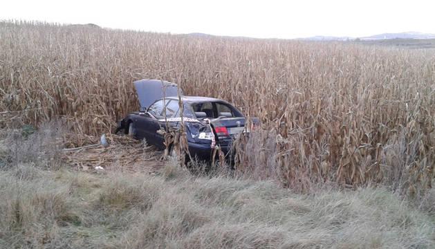 Un conductor de 59 años, herido con pronóstico reservado en Artajona