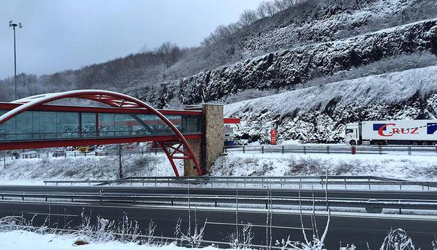La cota de nieve asciende hoy hasta los 1.200 metros en Navarra