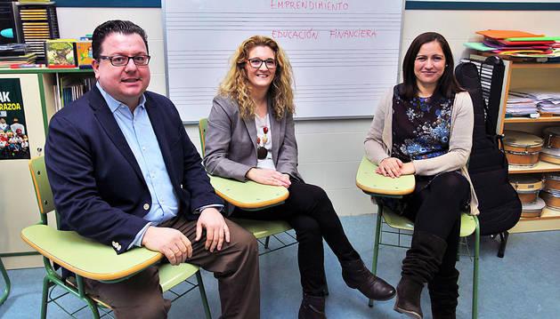 Los emprendedores se sientan en el aula