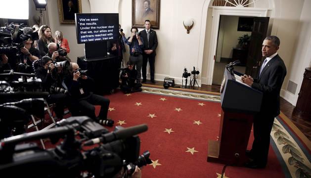 Obama dice que el mundo estará más seguro tras el acuerdo con Irán