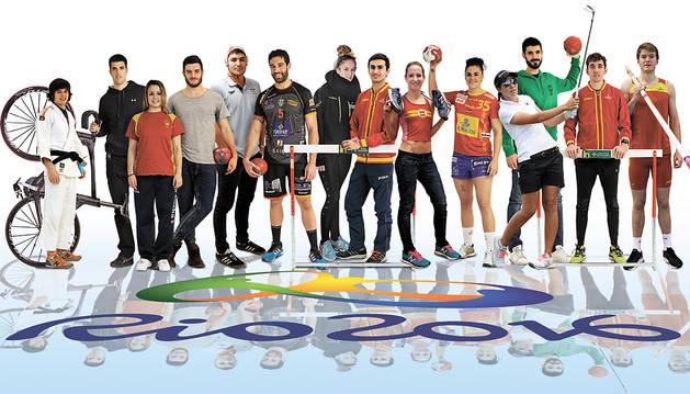 Deportistas navarros con opciones de disputar los Juegos de Río de Janeiro 2016.