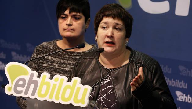 Las diputadas Marian Beitilarrangoitia y Onintza Enbeitia.