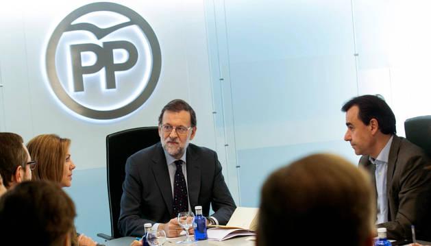 Mariano Rajoy en la reunión del Comité de Dirección del PP.