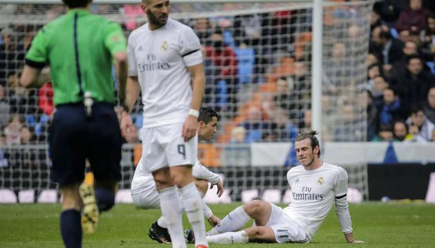 Gareth Bale, en el momento de su lesión.