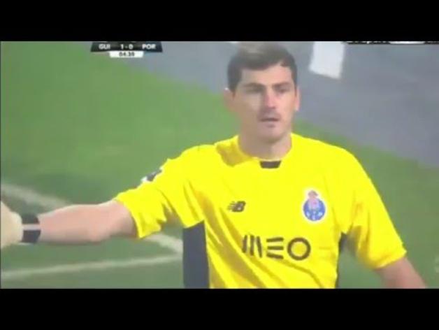 El error de Casillas contra el Vitoria de Guimaraes
