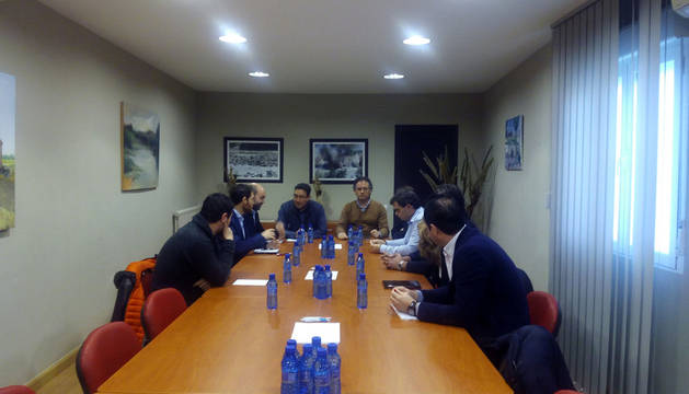 Imagen de la reunión celebrada en el ayuntamiento.