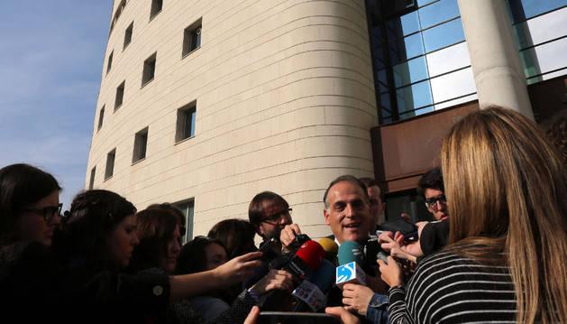 La LFP presentó ayer su recurso para que Osasuna sea imputado.