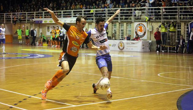 David, contra el D-Link Zaragoza.
