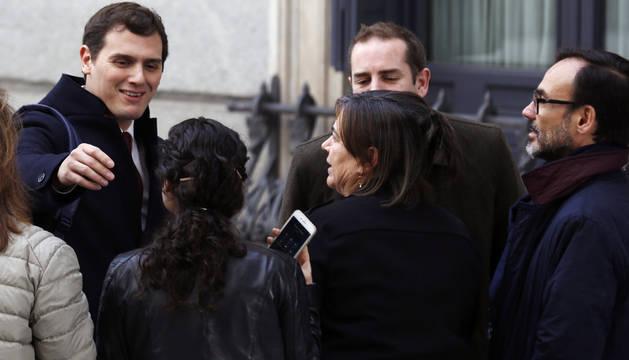 El presidente de Ciudadanos, Albert Rivera, a su llegada al Congreso de los Diputados.
