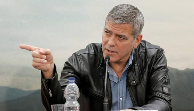 George Clooney durante una rueda de prensa.
