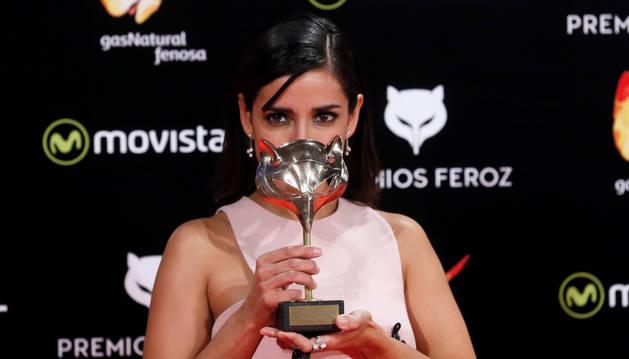 Inma Cuesta tras recibir el premio a 'Mejor actriz protagonista' por su trabajo en 'La Novia'.