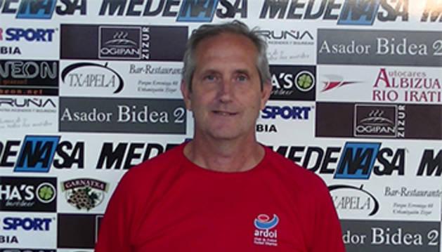 César Luengo, técnico del conjunto de Zizur.