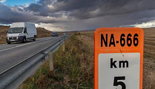 El kilómetro 5 de la carretera Allo-Sesma, donde se han registrado accidentes mortales.