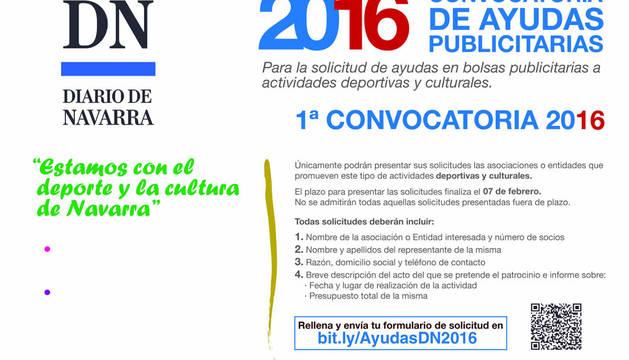 Diario de Navarra abre la I Convocatoria de Ayudas Publicitarias 2016