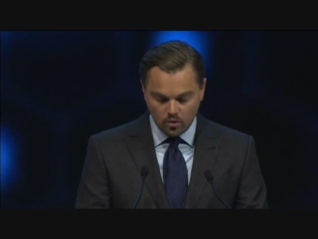 El Foro de Davos premia a DiCaprio