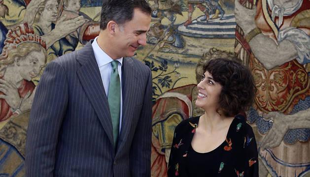 El Rey recibe a la portavoz de En Marea-Podemos, Alexandra Fernández.