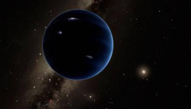 Recreación del 'Planeta Nueve'.