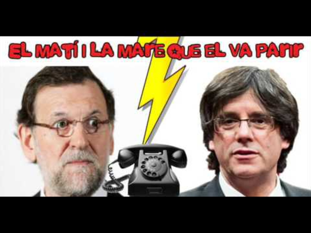 La broma de un imitador de Puigdemont a Rajoy.