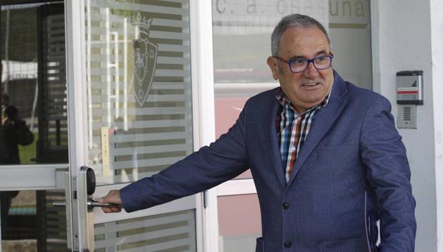 Luis Sabalza, en Tajonar.
