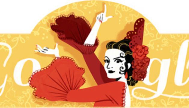 Lola Flores, protagonista del día en Google