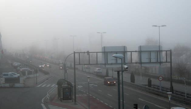 La niebla dificulta el tráfico y causa dos choques en Zizur Mayor