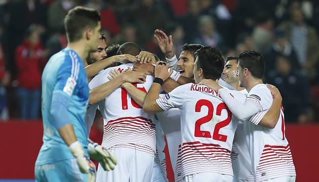 Vitolo derriba el muro del Mirandés en el descuento (2-0)