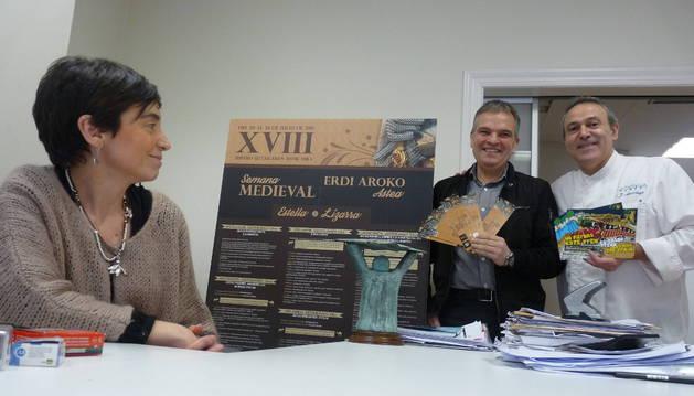 Ayuntamiento, consorcio y los comerciantes venden Estella en Fitur
