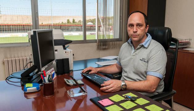 Luis Virto, candidato a la presidencia de la Federación Navarra de Fútbol.