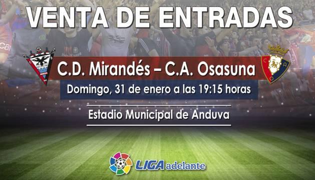 Venta de entradas contra el Mirandés.
