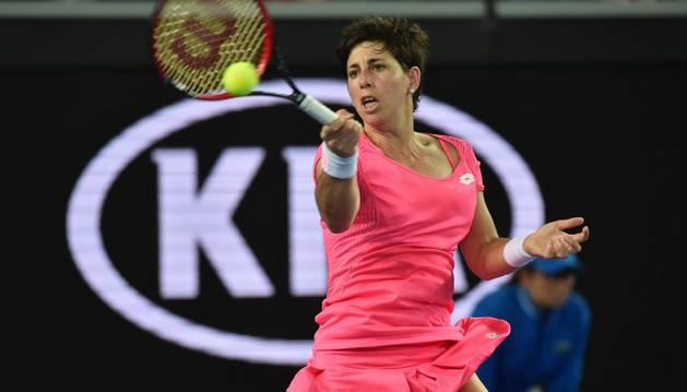 Carla Suárez, en el Open de Australia.
