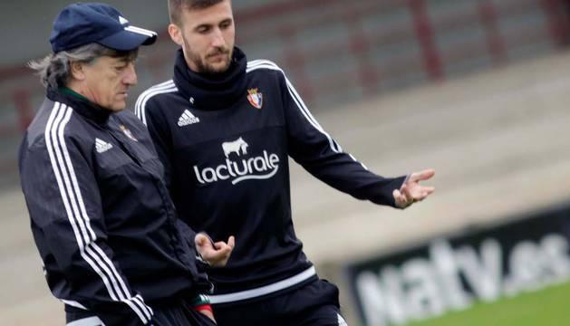 Martín y Oier, en un entrenamiento.