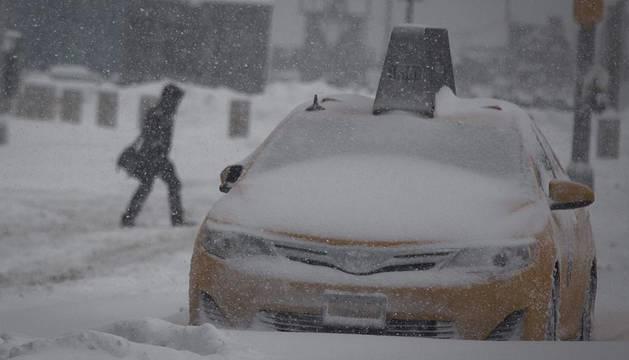 Efectos de la tormenta de nieve 'Jonás'