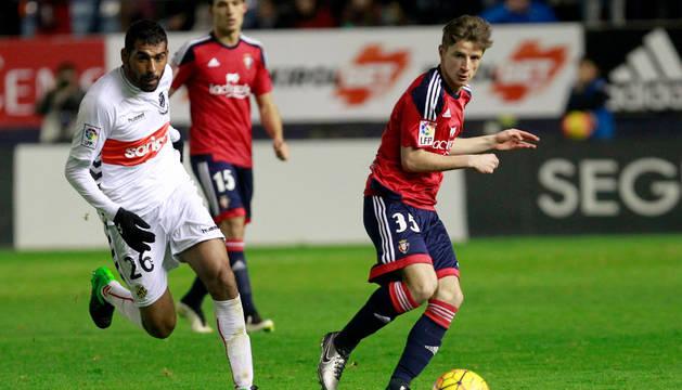 Miguel Olavide, en un partido anterior.