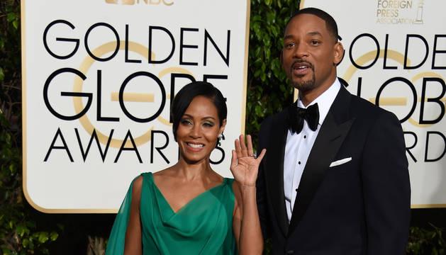 Jada Pinkett y Will Smith, en la pasada ceremonia de los globos de Oro