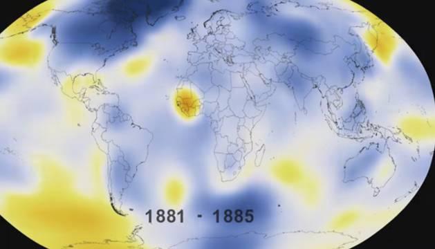 135 años de cambio climático en 30 segundos