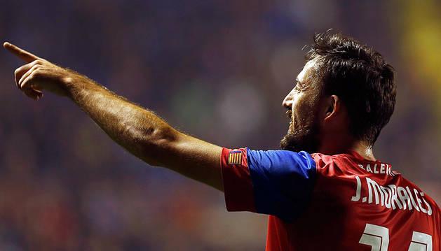 Morales, bigoleador ante Las Palmas.