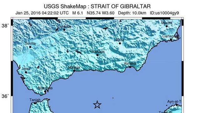 Un seísmo de 6,3 grados en el mar de Alborán sacude Andalucía y Melilla