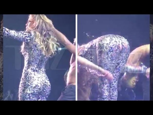 JLo rompe su vestido en Las Vegas