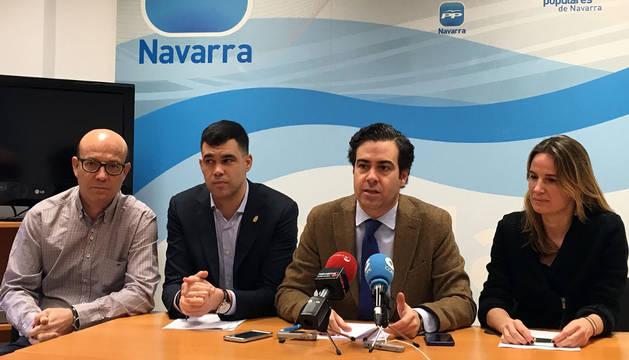 De izquierda a derecha: José Suárez, Javier García, Pablo Zalba e Irene Royo.