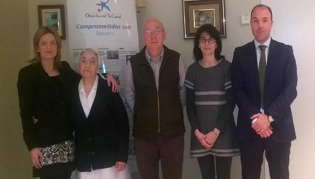 La Caixa aporta  6.000 euros a la residencia de ancianos de Peralta