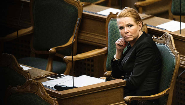 La ministra danesa de Inmigración, Inger Stojberg.