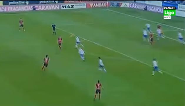 El golazo de Íñigo Eguaras contra el Zaragoza