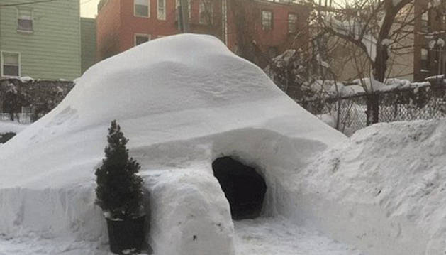 Unos neoyorquinos ponen en alquiler su iglú en Airbnb