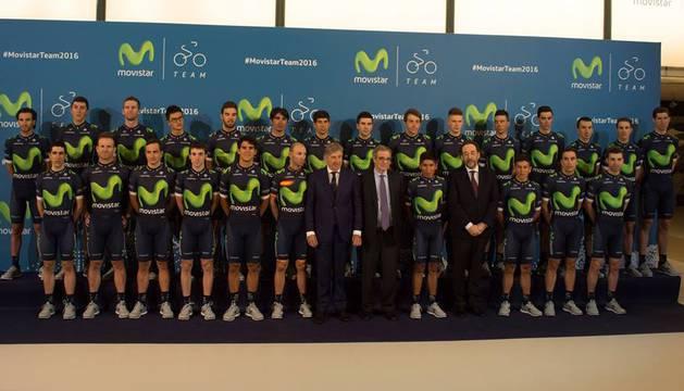 Presentación del Movistar Team.