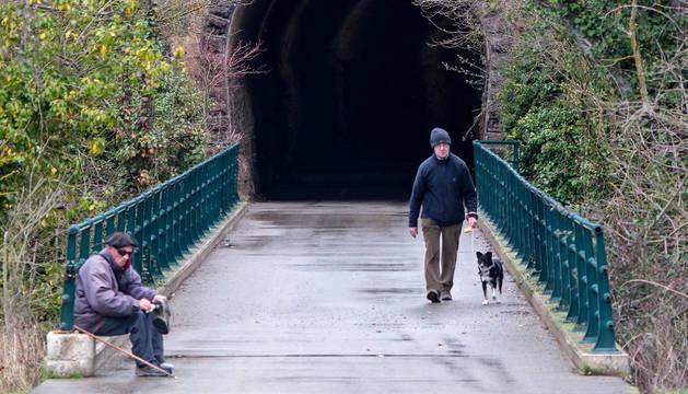 La salida del túnel de Arbeiza en una imagen de ayer. Es el punto en el que arrancará al tramo pendiente hasta conectar con Murieta.