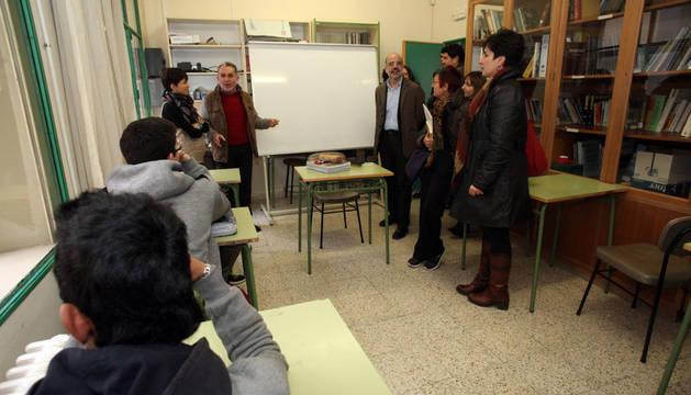 Una de las aulas de apoyo del centro que se ha quedado pequeña.