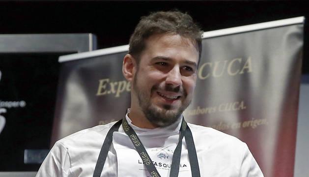 Javi Estévez, al frente de La Tasquería (Madrid), desde la que ha revolucionado la cocina con casquería, reconocido como Cocinero Revelación 2016.