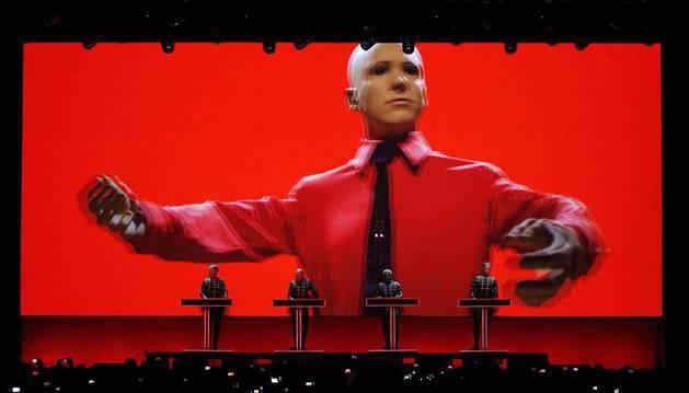 Kraftwerk en el festival Sónar de Barcelona.