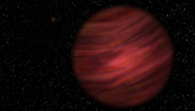 Representación del planeta gigante de gas 2MASS J2126-8140.